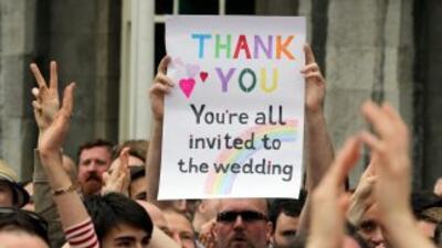 Manifestantes celebraron por horas y agradecieron a quienes votaron a fa...