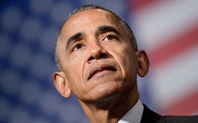 El presidente Barack Obama durante su última gira a Europa da un...