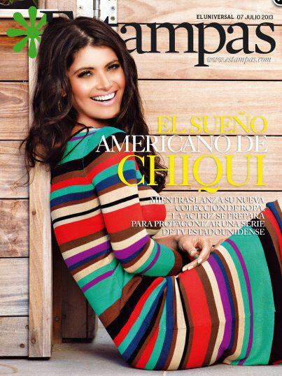 Chiquinquirá Delgado con su hermosura engalanó la portada de 'Estampas'...