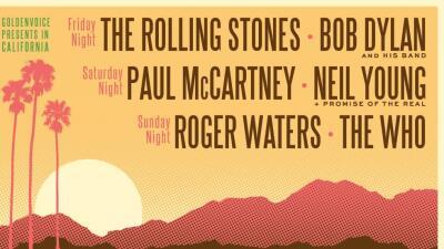 Bandas míticas del rock celebrarán un concierto inédito en California.