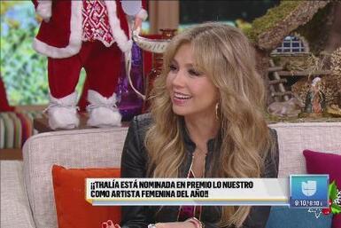 Thalía no podía creer su nominación como Artista Femenina del Año