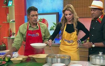Marjorie de Sousa cocinó sancocho apambichao con el Chef Carlos