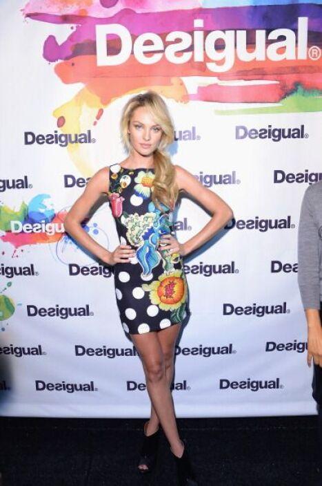 La angelita de Victoria´s Secret Candice Swanepoel modeló para Desigual.