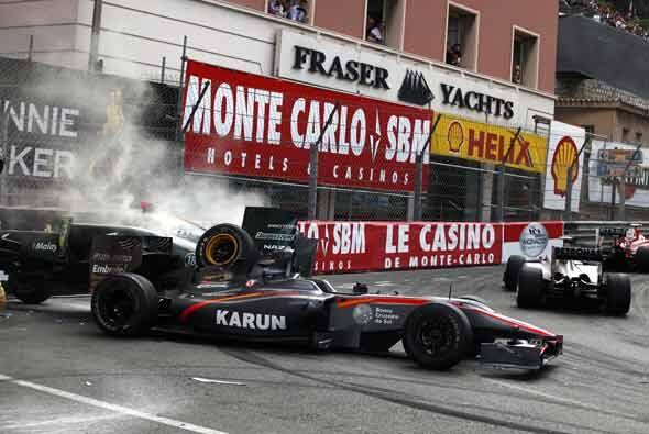 Los accidentes estuvieron a la orden del día en el Gran Premio de...
