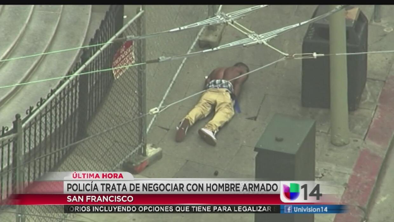 Policía detiene a hombre armado con balas de goma