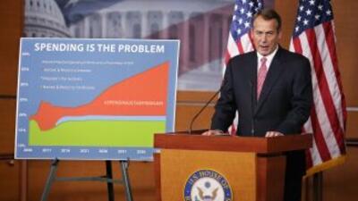 Boehneracusó al presidente Obama de no hablar con seriedad sobre los re...