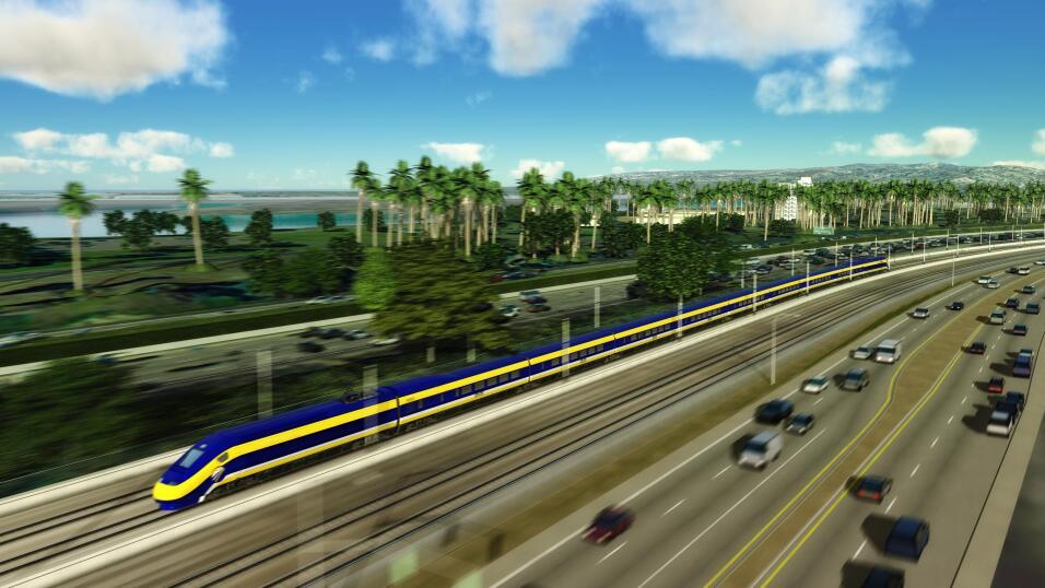En California ya se está construyendo el que sería el único tren de alta...