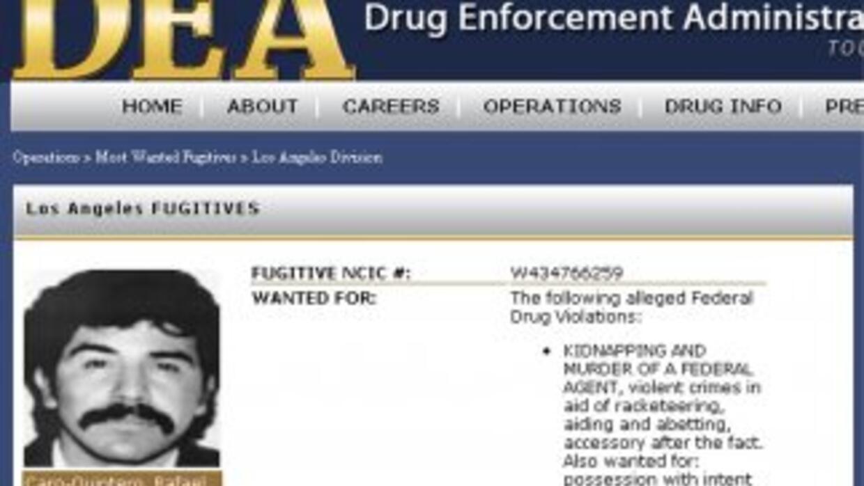 Caro Quintero fue relanzado como uno de los delincuentes más buscados a...