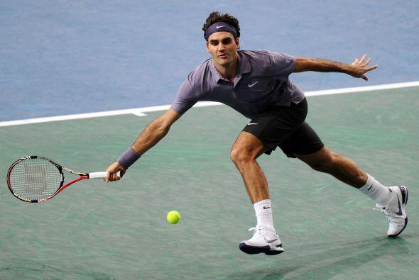 Federer llegó a estar 4-1 arriba en el tercer y definitivo set, cuando s...