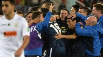 Auckland celebra su victoria sobre el Setif.