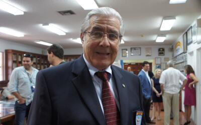 Humberto Díaz, de 74 años, es el presidente de la asociaci...