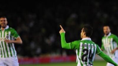 Rubén Castro anotó el gol del triunfo bético.