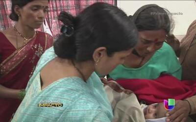 Un bebé y su madre salieron con vida de un alud de tierra en la India