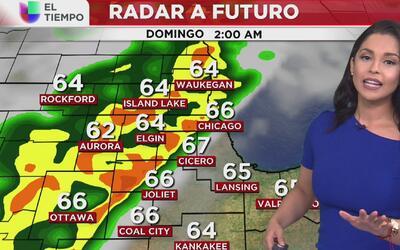 Habrá algo de lluvia este domingo 16 de abril en Chicago