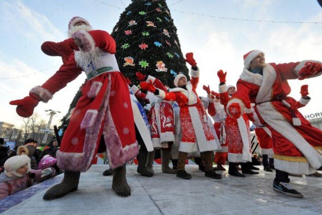 Y en Bielorrusia se celebró el festival con motivo de Navidad.