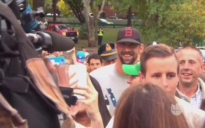 Phelps, a lo Forrest Gump: corrió con cientos de personas siguiéndolo