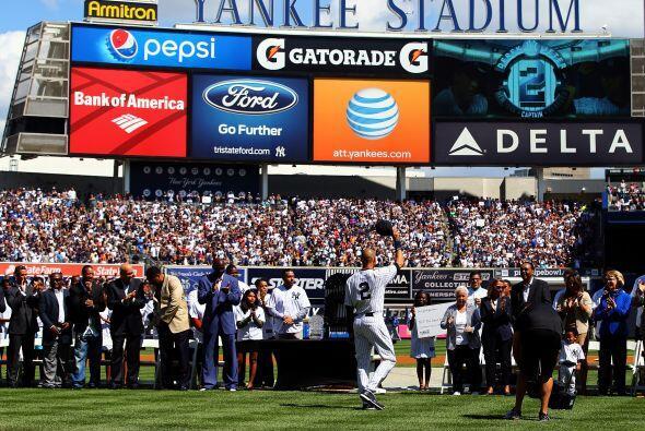 Derek Jeter, se mostró agradecido con la afición de Nueva York que siemp...