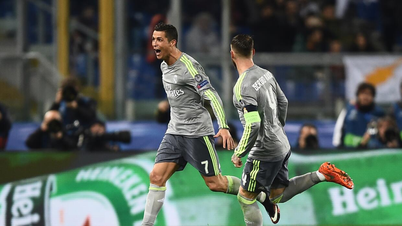 Ronaldo anotó el primer gol del Madrid en Roma
