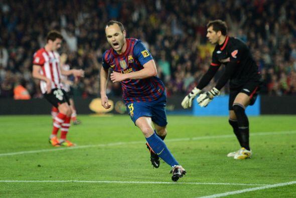 Iniesta y todo el equipo 'culé' festejó con todo el gol de...