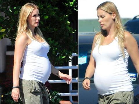 ¡Mira cómo ha crecido su vientre!