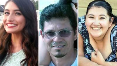 Ivette Velasco, Aurora Godoy y Juan Espinoza, las víctimas latinas