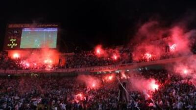 Mortada Mansur, Presidente del club Zamalek del fútbol d Egipto, sufrió...