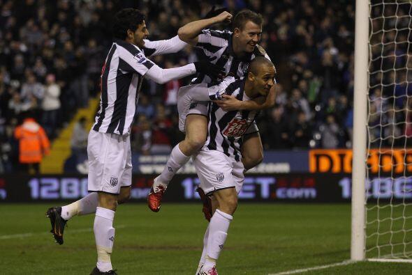 El West Brom fue el primer equipo en ponerse adelante en el marcador.