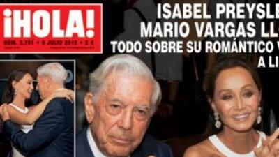 Preysler y Vargas Llosa en la portada de la revista ¡Hola!