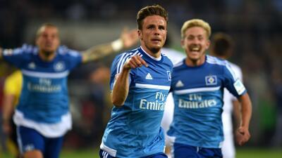 Nicolai Müller colaboró con un gol en el triunfo del Hamburgo