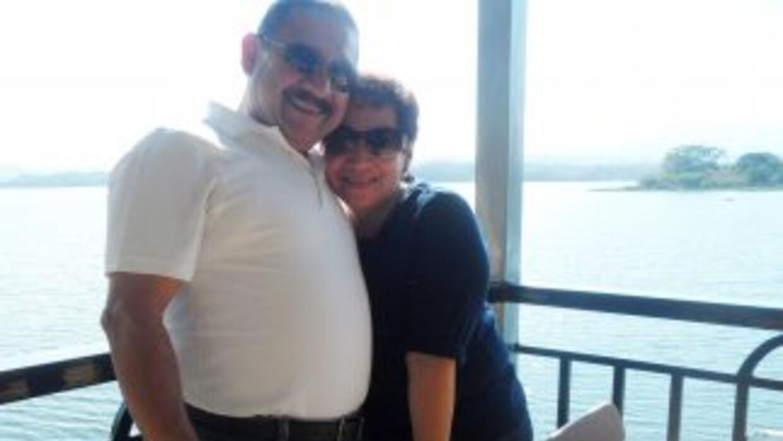 Veralicia Figueroa junto a su esposo Bernardo Alfaro (Foto compartida po...