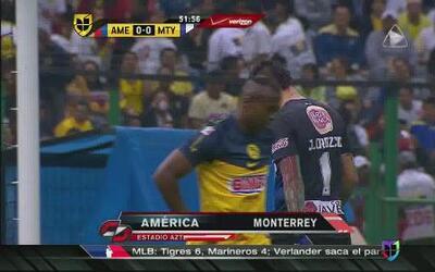 América no pudo con Monterrey en el Estadio Azteca