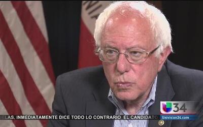 Bernie Sanders habla sobre la lucha contra las drogas y los inmigrantes...
