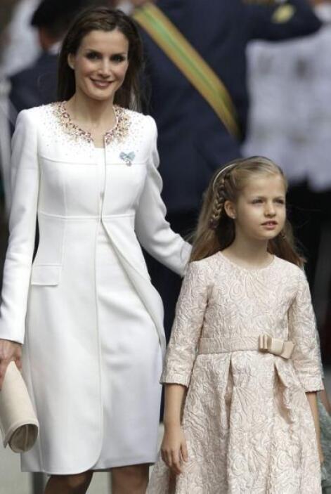 Leonor, la princesa de Asturias, fue quien usó el vestido rosa.