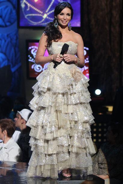 Al final de la primera gala de Nuestra Belleza Latina, Giselle luci&oacu...