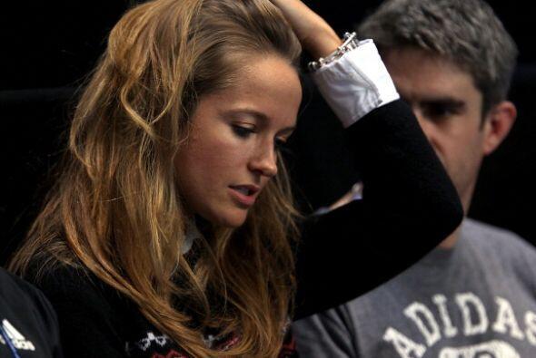 Kim Sears, novia de Andy Murray lució nerviosa en el encuentro que sostu...