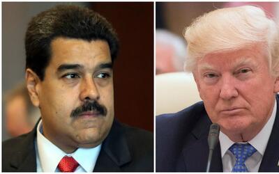 """Maduro acusa a Trump de ser parte de una """"conspiración"""" para """"tomar el c..."""