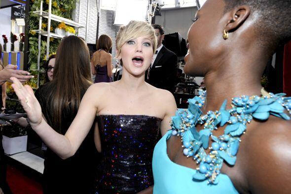 ¡Otra vez tú!, parece interrumpir Jennifer Lawrence cuando entrevistan a...