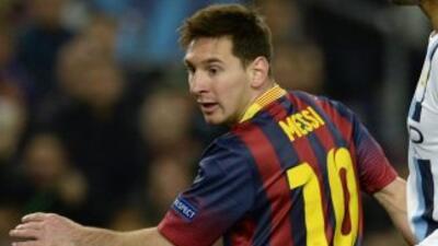 Messi retomó su romance con el gol ante el City.