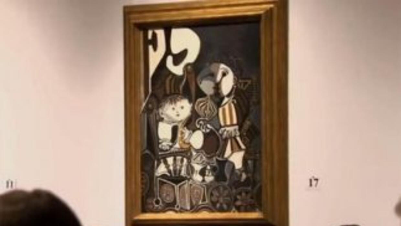 Claude y Paloma fue terminada en 1950. La pintura muestra a la hija de P...