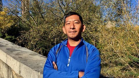 El profesor Juan Carlos Pérez se preparó desde agosto para correr las 26...