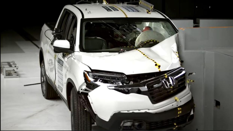 En Video Crash Test del Honda Ridgeline 2017
