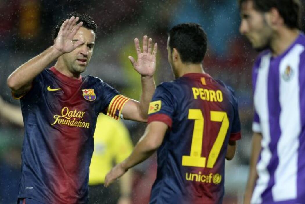 El extremo español cobraba protagonismo y ponía el 1-0 para los 'culés'.