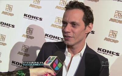 Marc Anthony llegó con Shannon de Lima a los Premios ASCAP