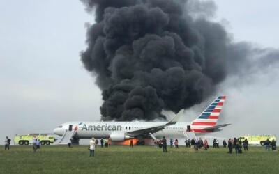 Incendio en avión en Aeropuerto O´Hare