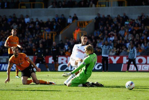 Swansea se puso rapidamente 2 a 0 arriba pero en el segundo tiempo se re...