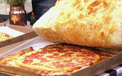 Probamos las pizzas más exóticas, incluida la caja de pizza hecha de pizza
