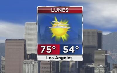 Cielo mayormente despejado y clima cálido para este lunes en Los Ángeles