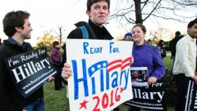 'Listos para Hillary'.