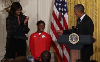Atletas en la Casa Blanca