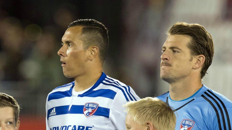 Blas Pérez y Dan Kennedy, FC Dallas